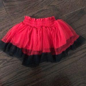 Disney Bottoms - Disney Red & Black Minnie Tutu Skort